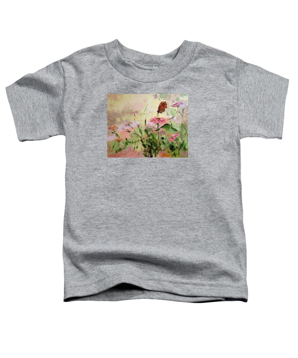 Butterflies Toddler T-Shirt featuring the painting The Seeker by Ginger Concepcion