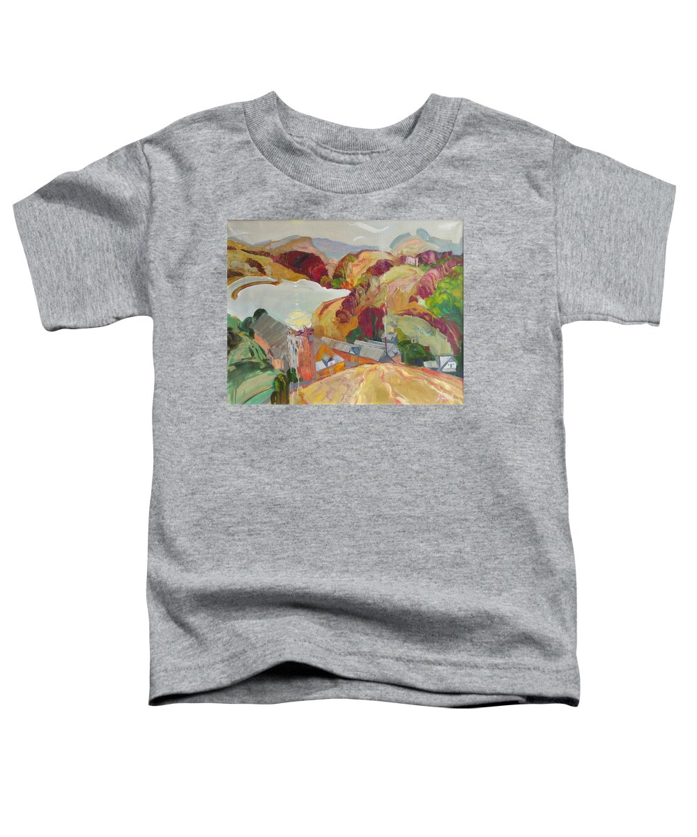 Oil Toddler T-Shirt featuring the painting The Slovechansk Edge by Sergey Ignatenko
