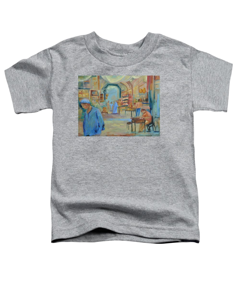 Figurative Toddler T-Shirt featuring the painting The Souk by Ginger Concepcion