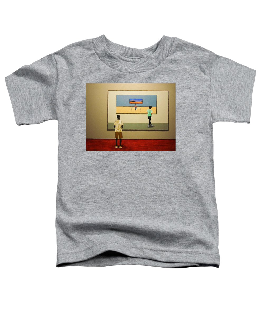Painting Toddler T-Shirt featuring the painting The View Within by Edith Peterson-Watson