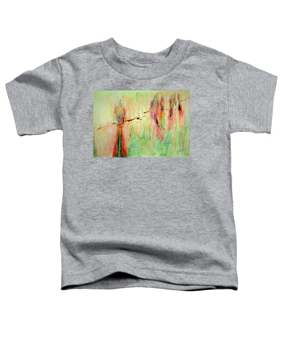 Abstract Art Toddler T-Shirt featuring the painting This Must Be A Dream by Larry Wright