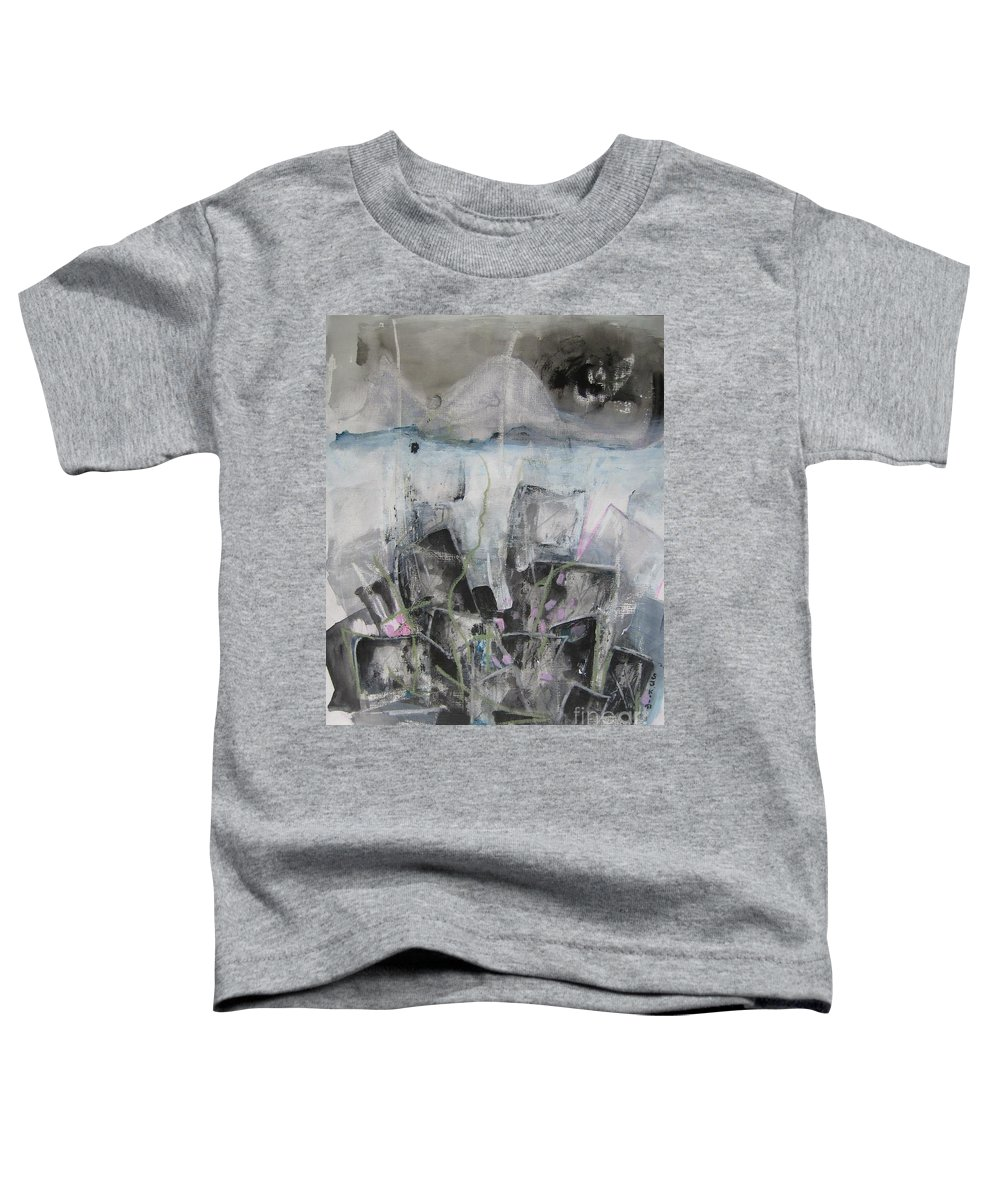Cemetery Toddler T-Shirt featuring the painting Three Arms by Seon-Jeong Kim