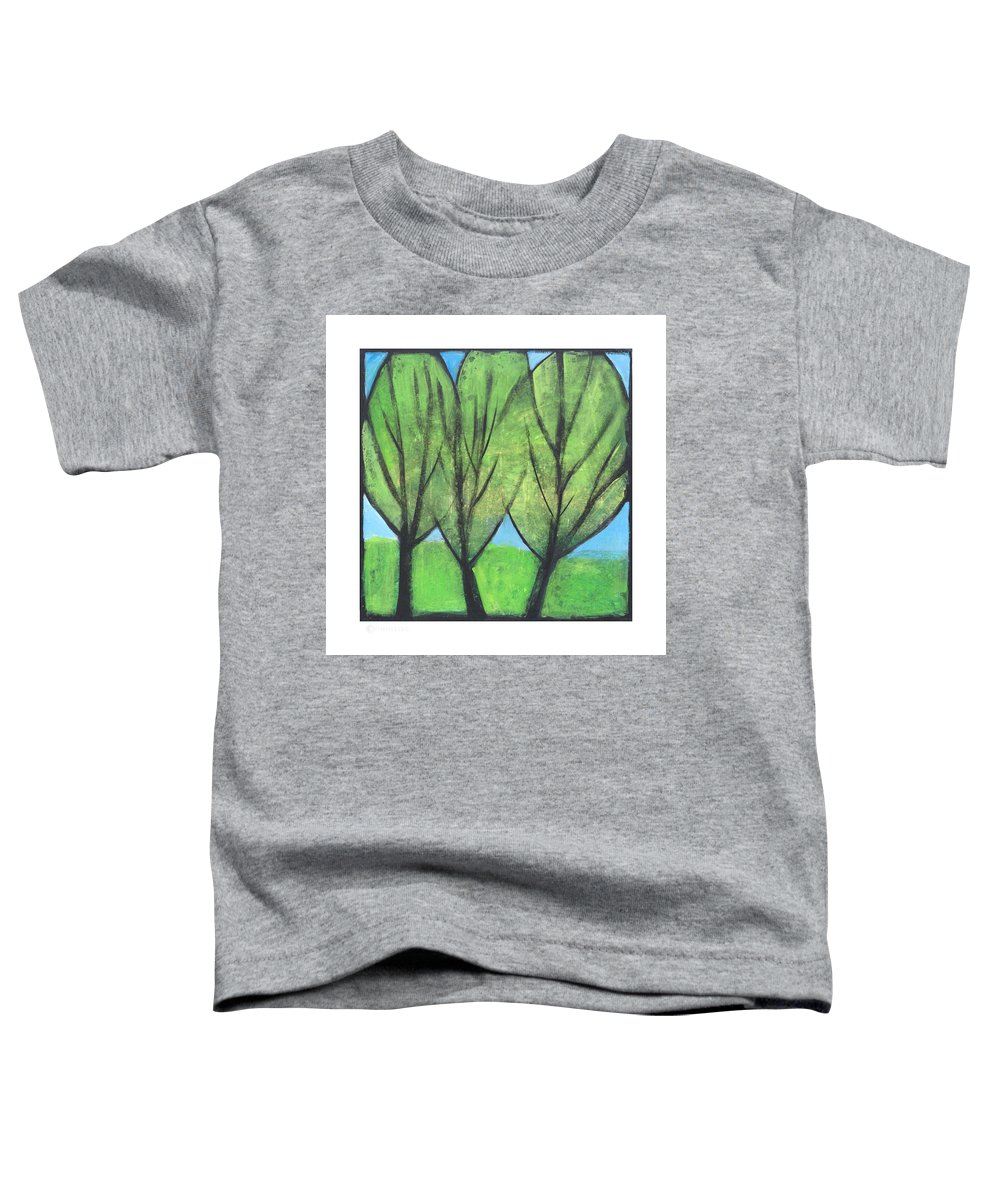 Trees Toddler T-Shirt featuring the painting Three Sisters by Tim Nyberg
