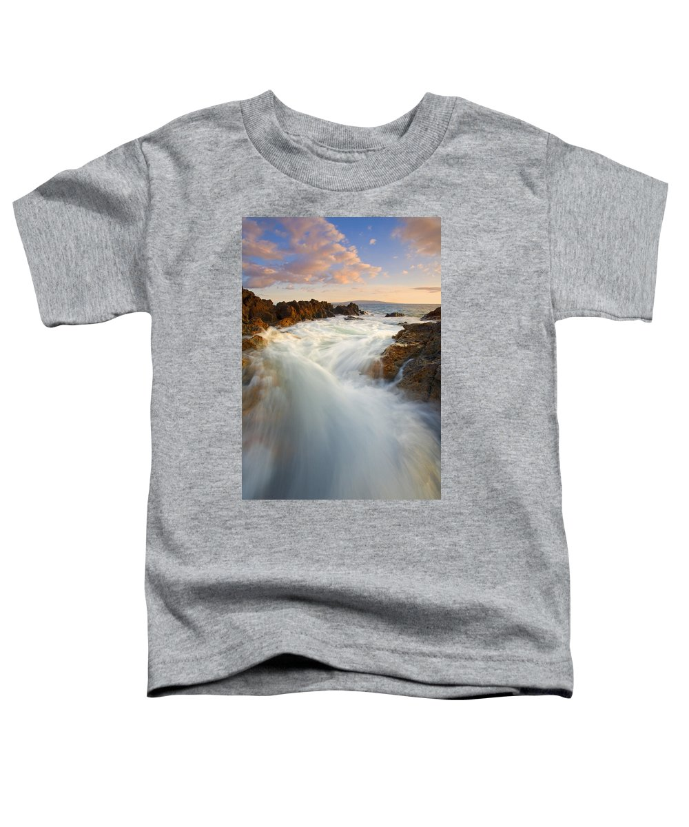 Surge Toddler T-Shirt featuring the photograph Tidal Surge by Mike Dawson
