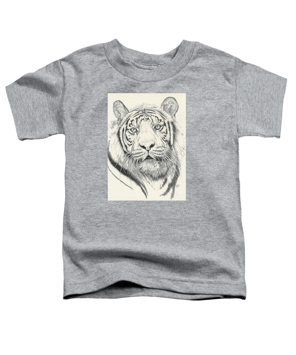 Tiger Toddler T-Shirt featuring the drawing Tigerlily by Barbara Keith