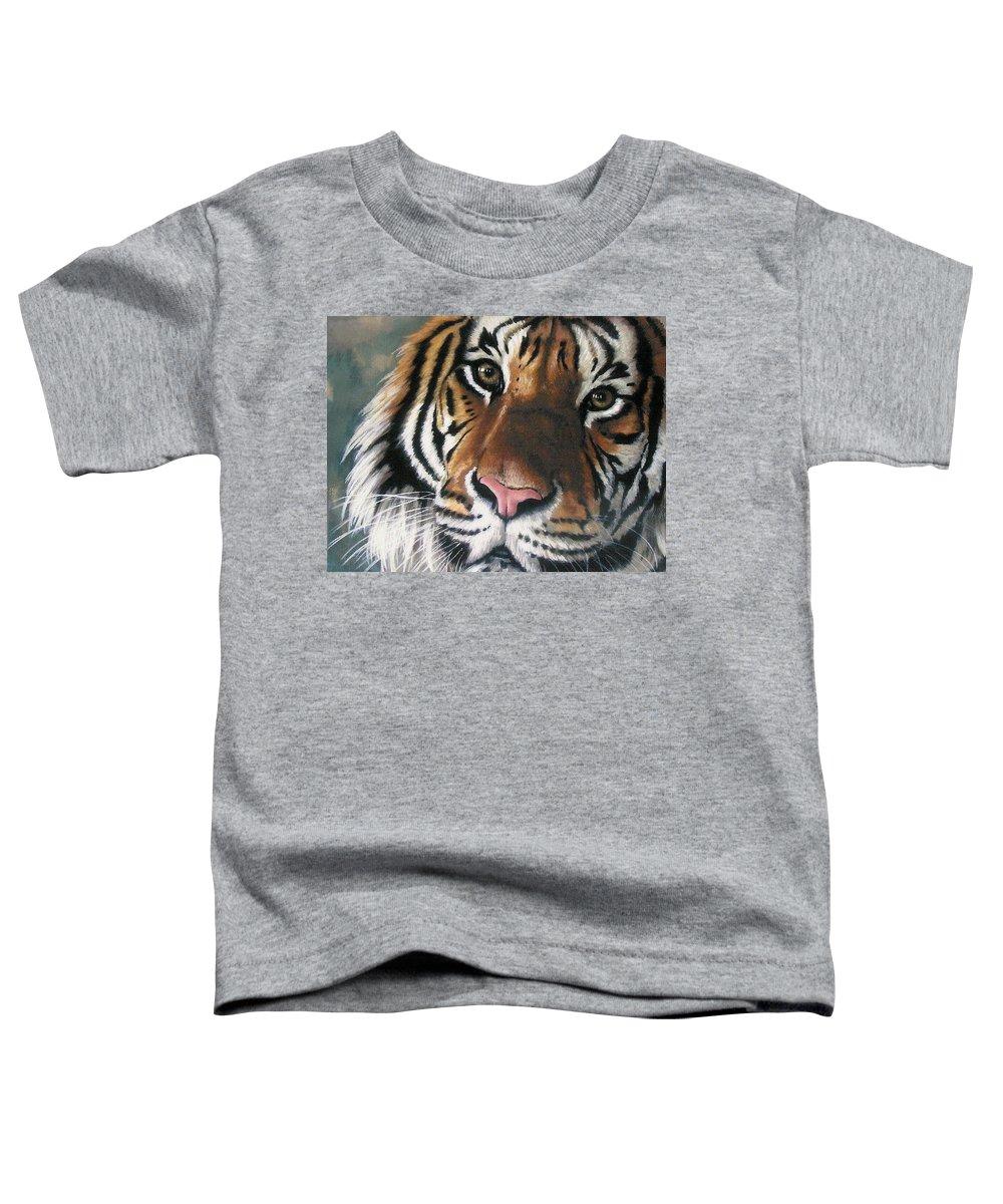 Tiger Toddler T-Shirt featuring the pastel Tigger by Barbara Keith