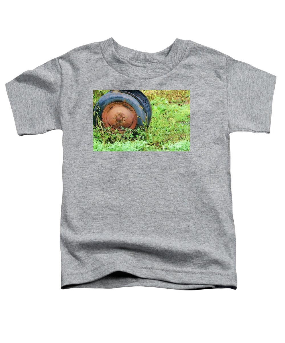 Tire Toddler T-Shirt featuring the photograph Tired by Debbi Granruth