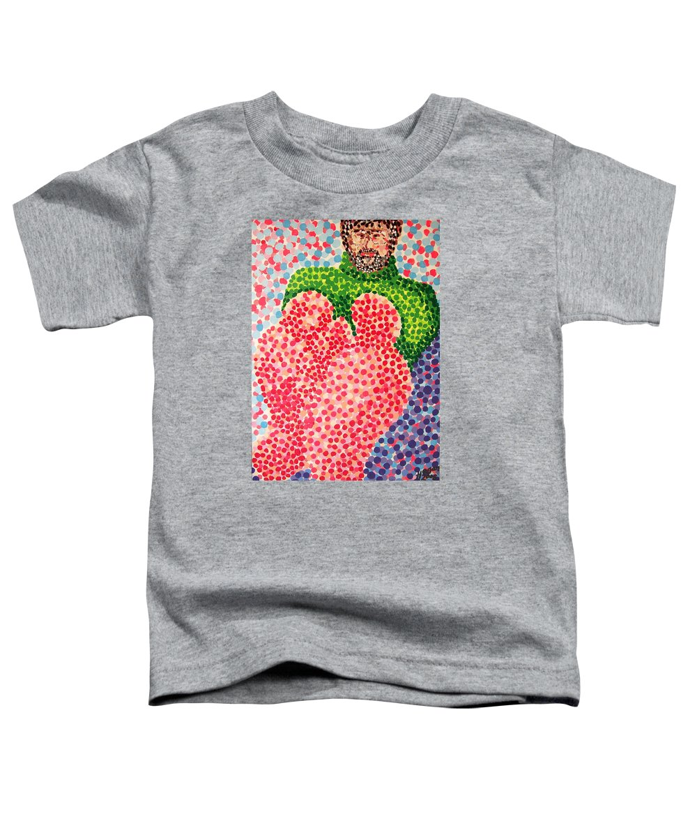 Feet Toddler T-Shirt featuring the painting Tired Feet by Alan Hogan