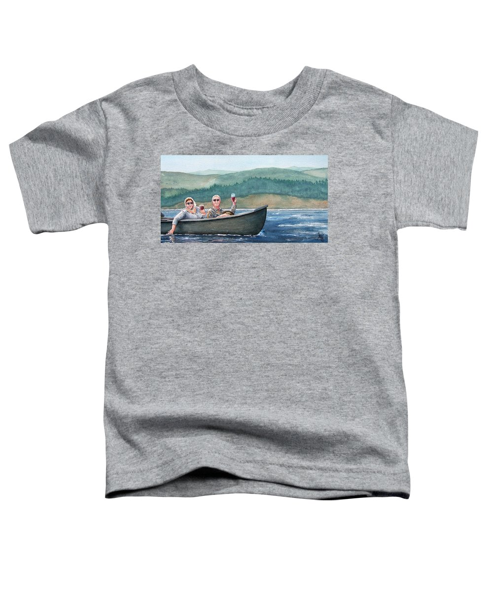 Canoe Toddler T-Shirt featuring the painting To Life by Gale Cochran-Smith