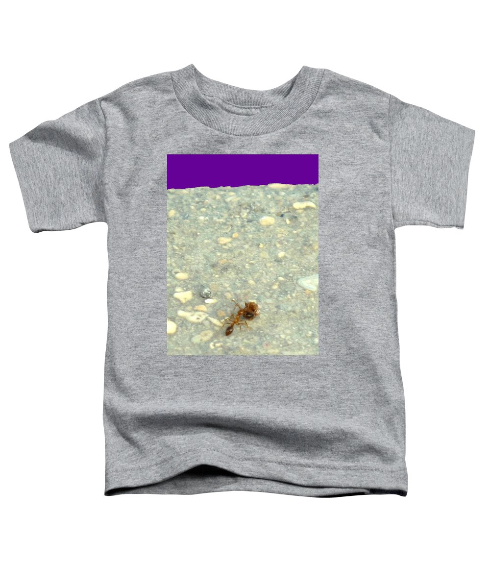 Ant Toddler T-Shirt featuring the photograph To The Edge by Ian MacDonald