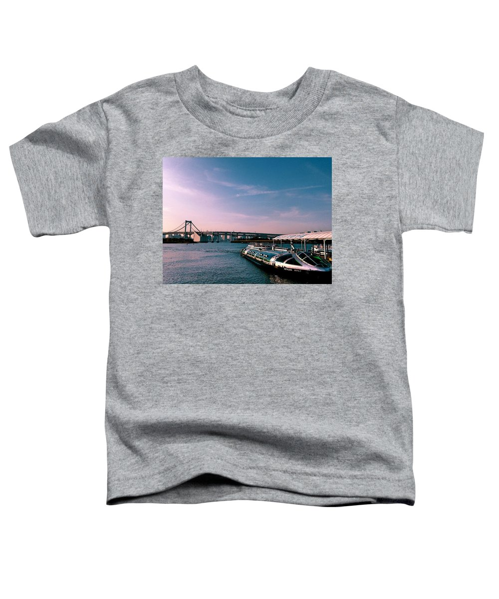 Landscape Toddler T-Shirt featuring the photograph To the space from sea by Momoko Sano