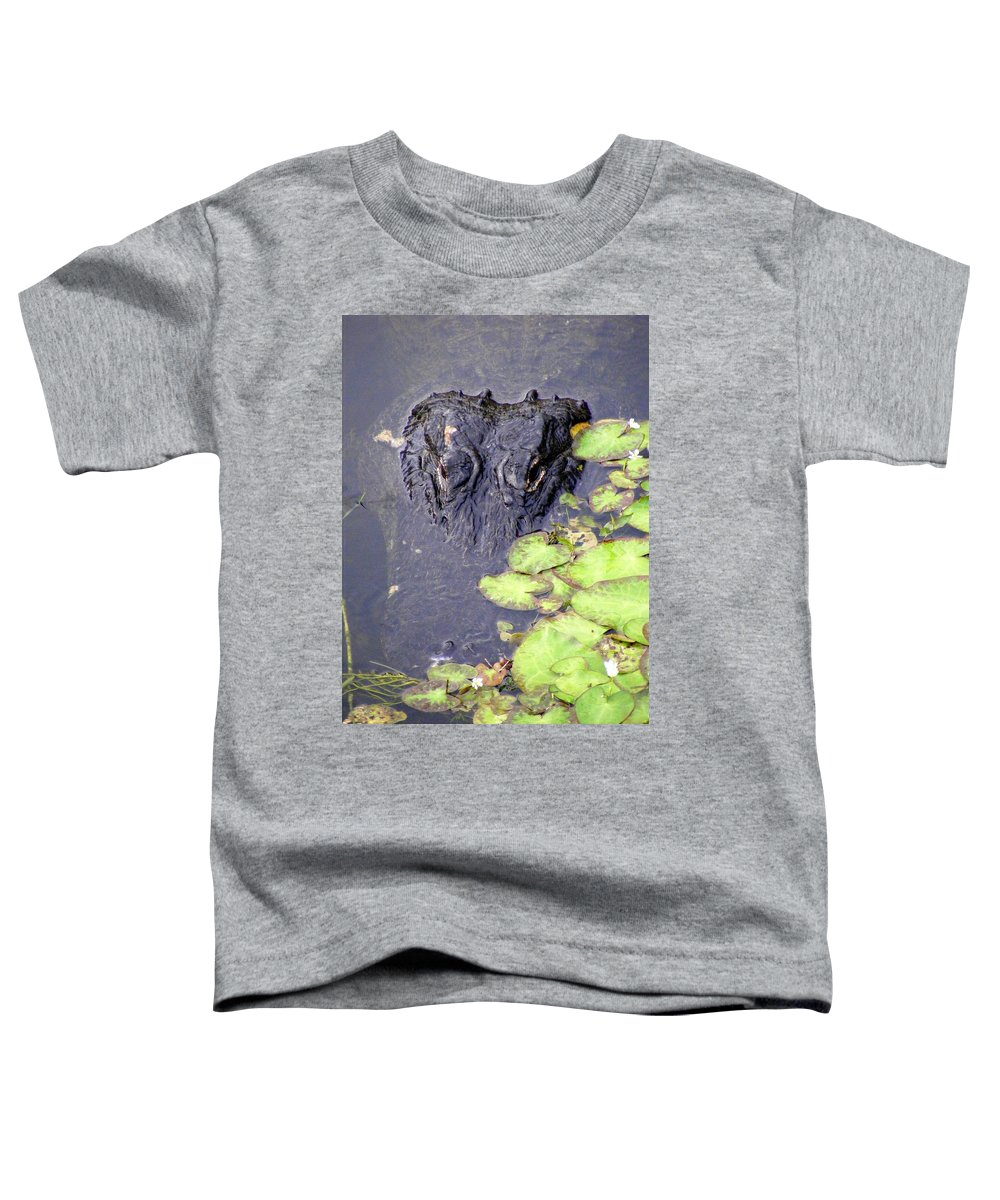 Swamp Toddler T-Shirt featuring the photograph Too Close For Comfort by Ed Smith