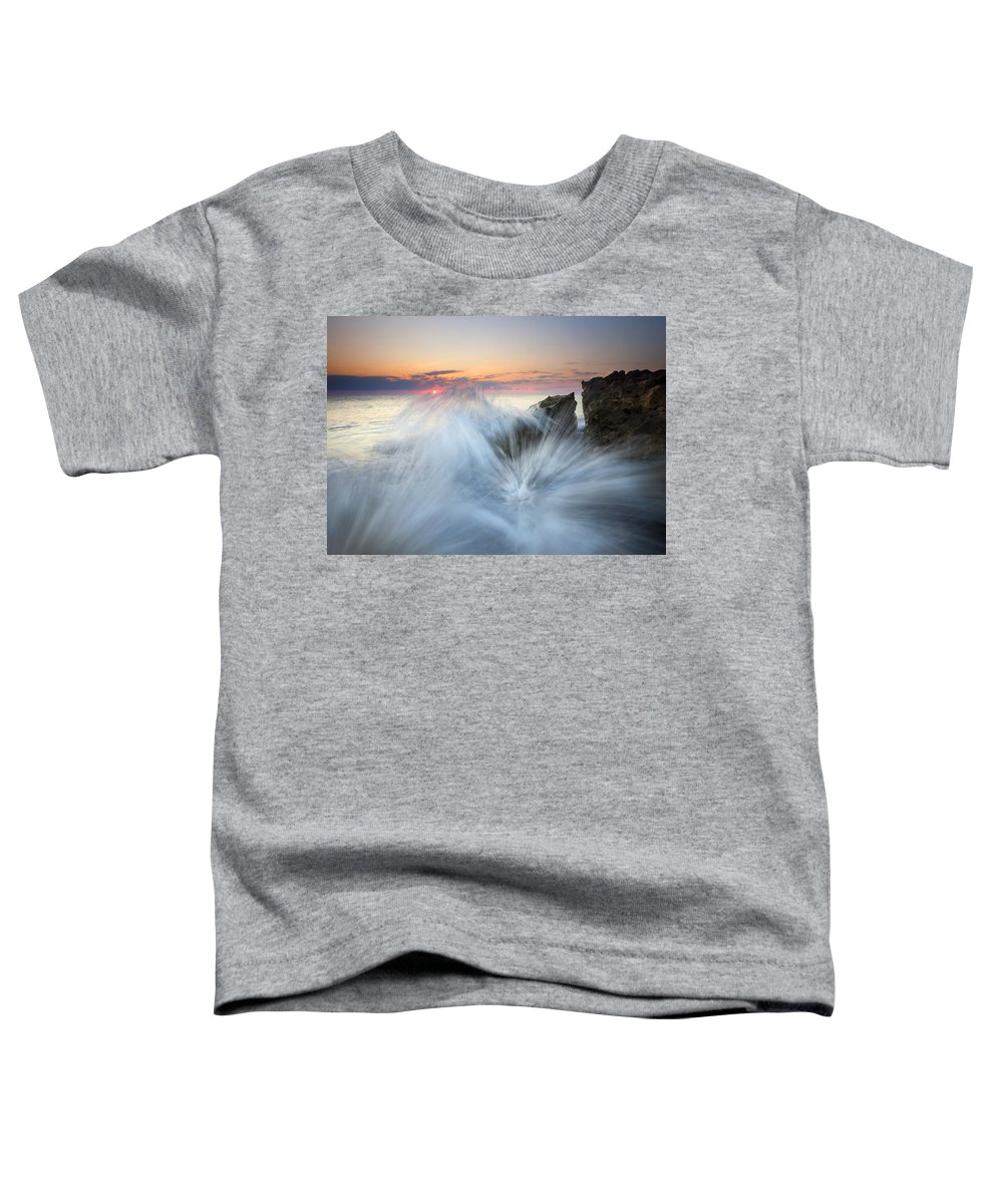 Sunrise Toddler T-Shirt featuring the photograph Too Close For Comfort by Mike Dawson