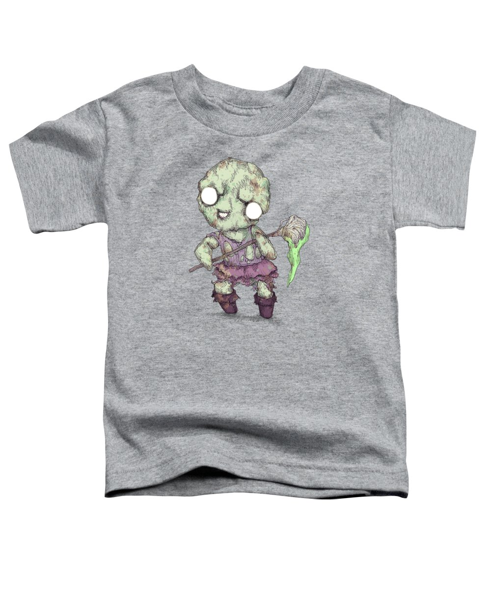 Toxic Toddler T-Shirt featuring the drawing Toxie by Ludwig Van Bacon