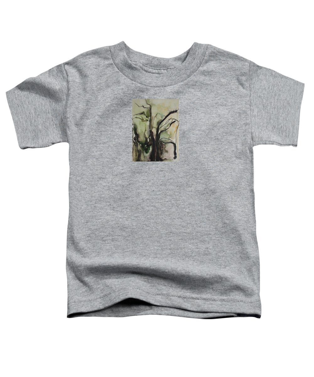 Tree Winter Abstract Original Painting Landscape Leila Atkinson Watercolor Wet On Wet Washes Trees Toddler T-Shirt featuring the painting Tree Series V by Leila Atkinson