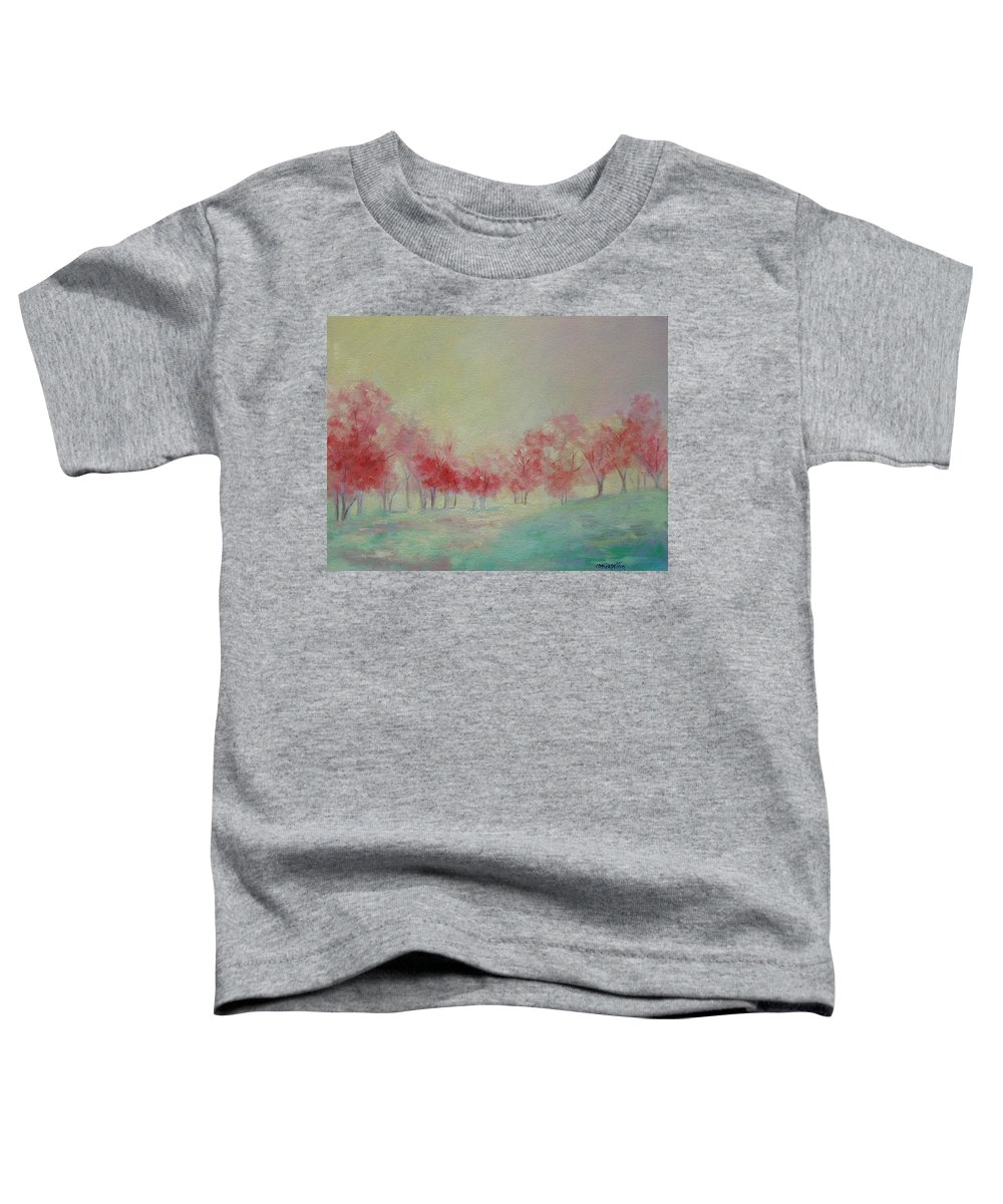 Impressionist Trees Toddler T-Shirt featuring the painting Treeline by Ginger Concepcion