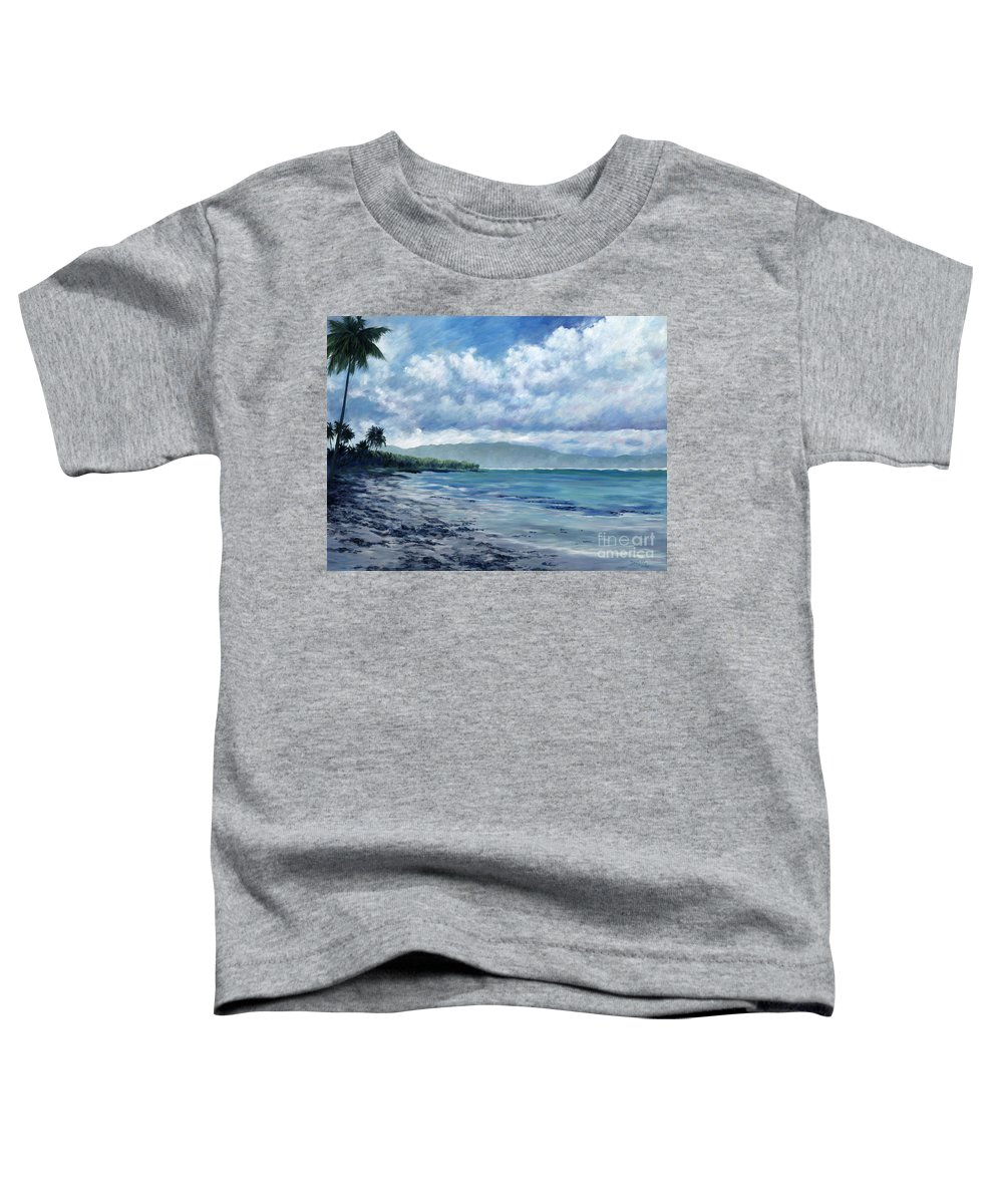 Seascape Toddler T-Shirt featuring the painting Tropical Rain by Danielle Perry
