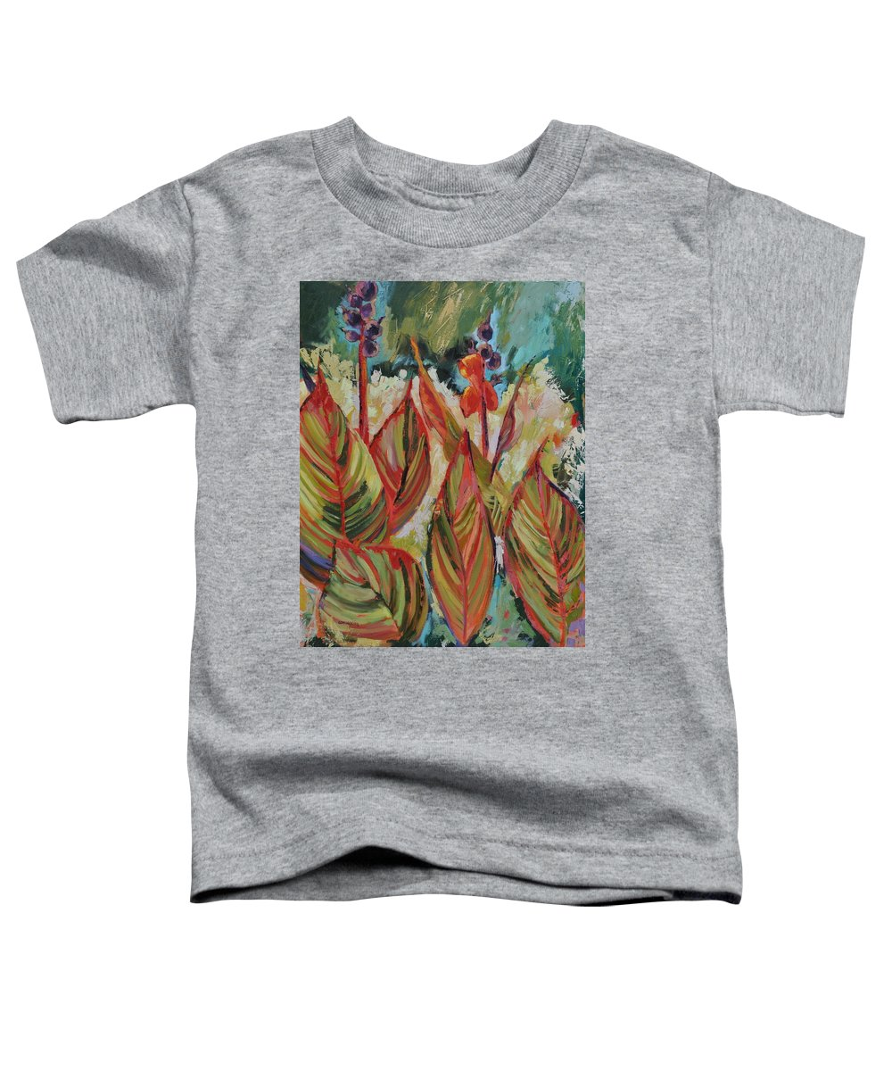 Tropicana Toddler T-Shirt featuring the painting Tropicana by Ginger Concepcion