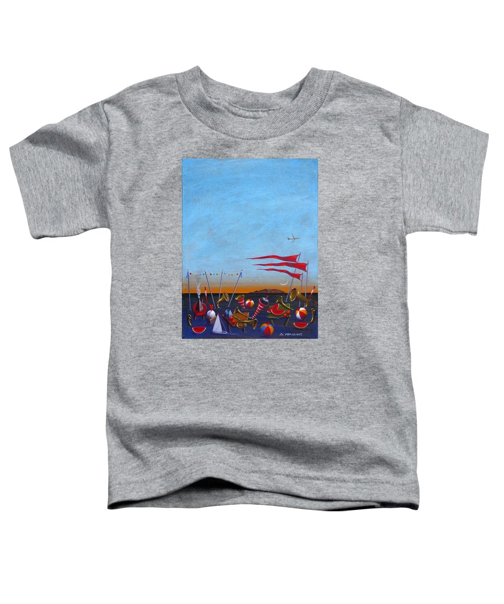 Piano Toddler T-Shirt featuring the painting Trumpets Of The Mediterranean by Dimitris Milionis