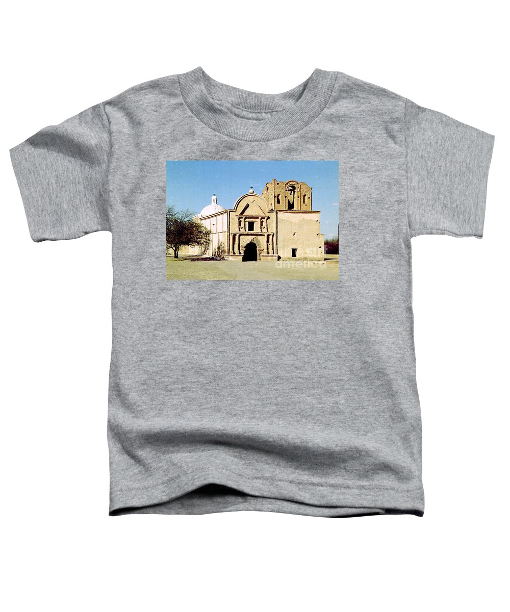Mission Toddler T-Shirt featuring the photograph Tumacacori by Kathy McClure