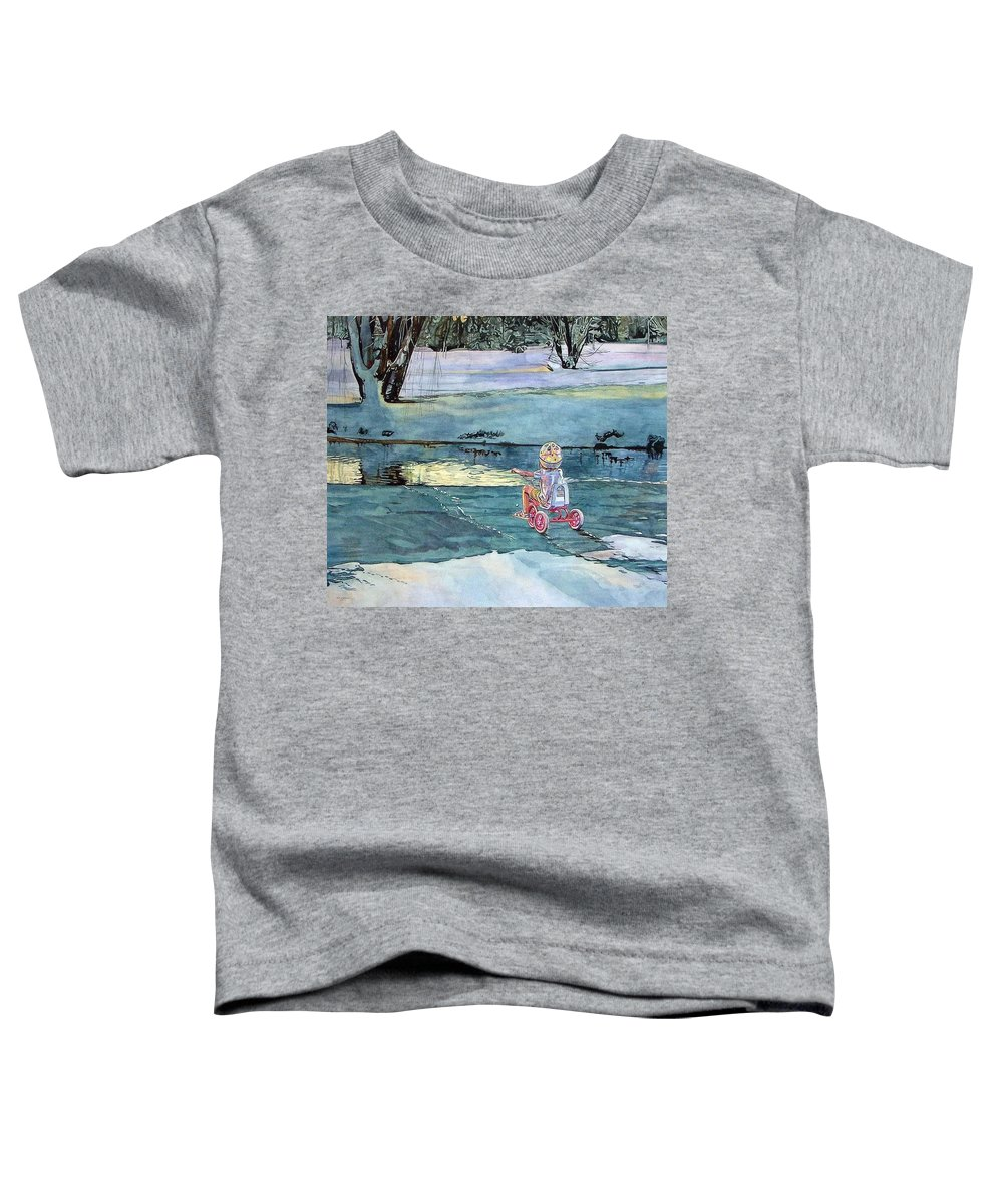 Children Toddler T-Shirt featuring the painting Twilight by Valerie Patterson