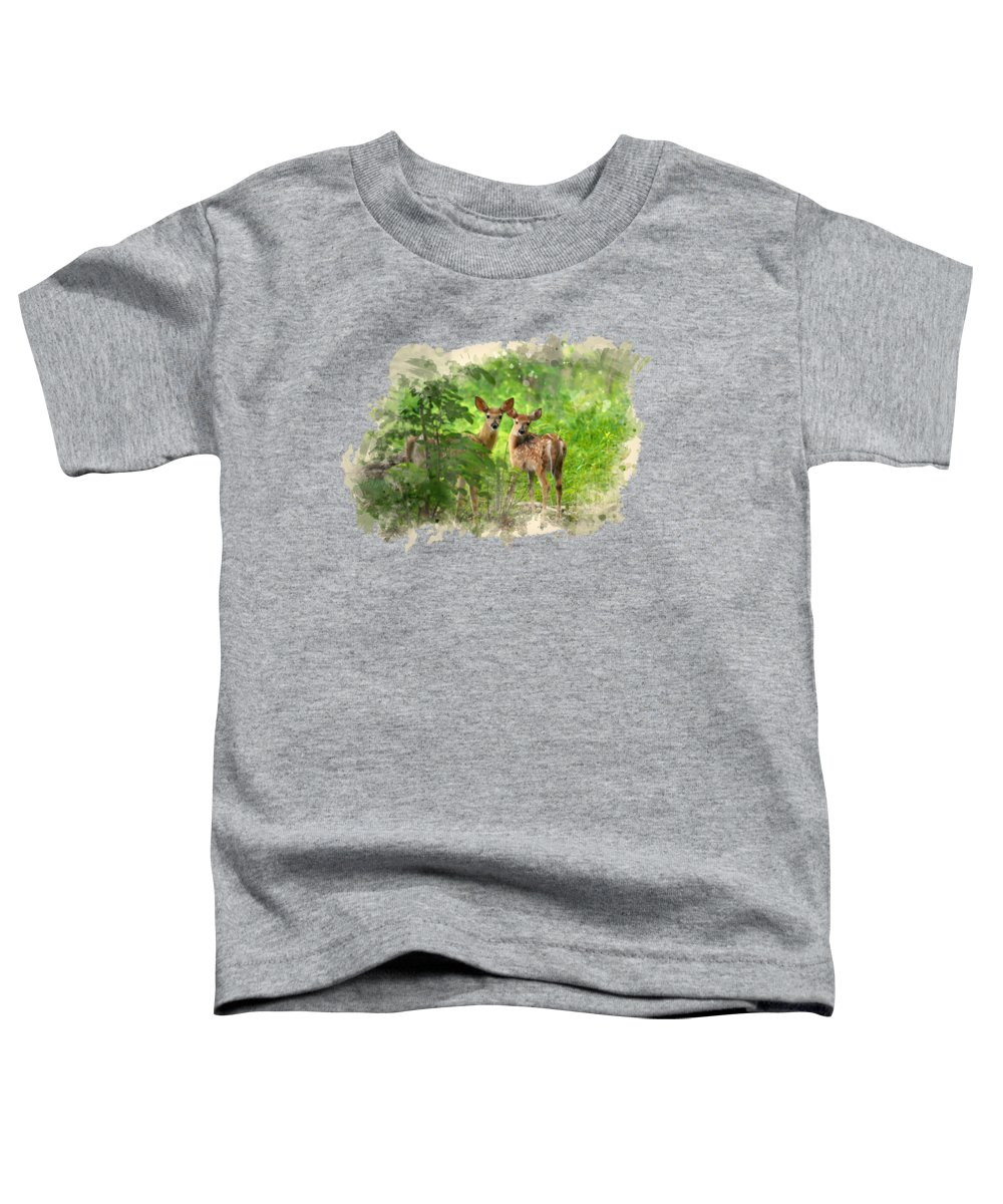 Country Landscape Mixed Media Toddler T-Shirts