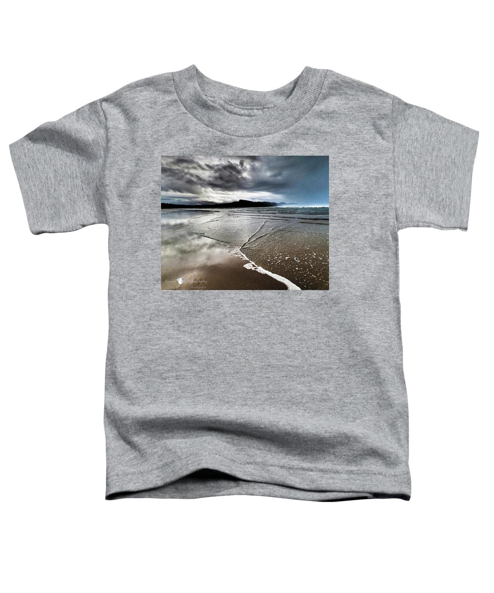 Beach Toddler T-Shirt featuring the photograph Two Skies by Stephanie McGuire