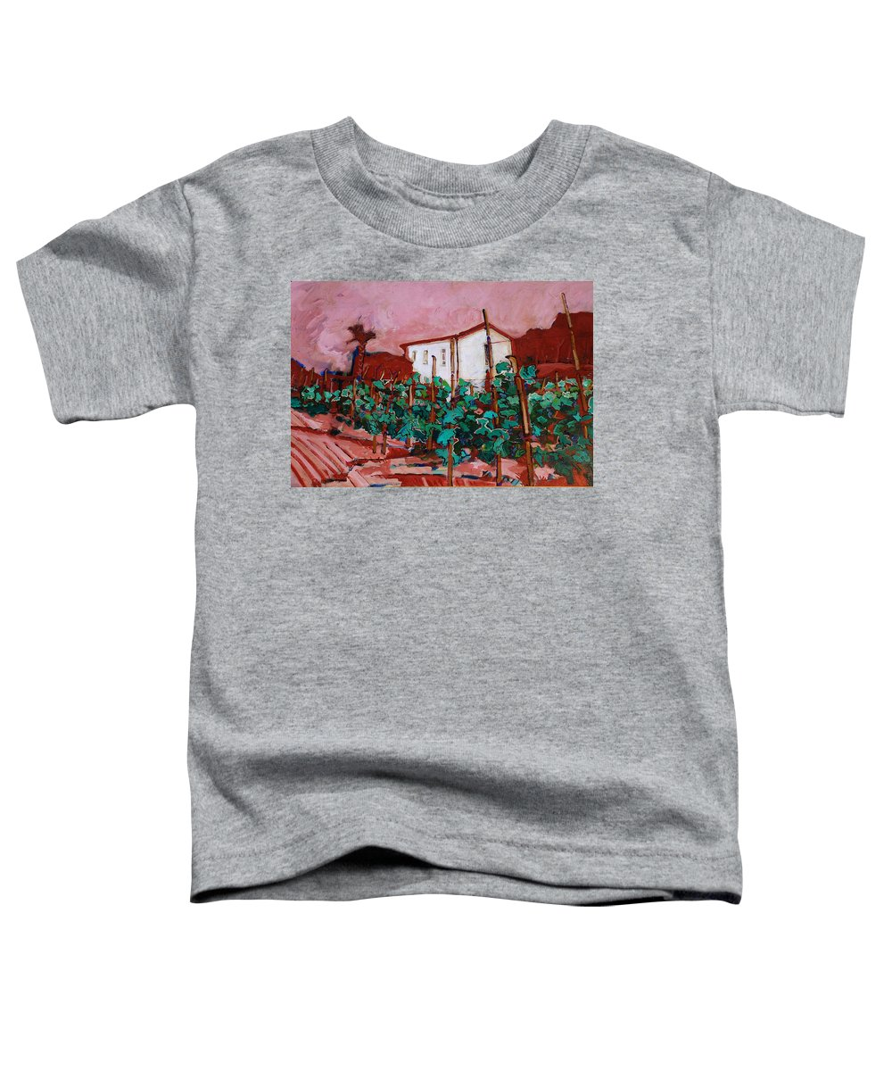 Tuscany Toddler T-Shirt featuring the painting Vecchio Casa Di Pietro by Kurt Hausmann