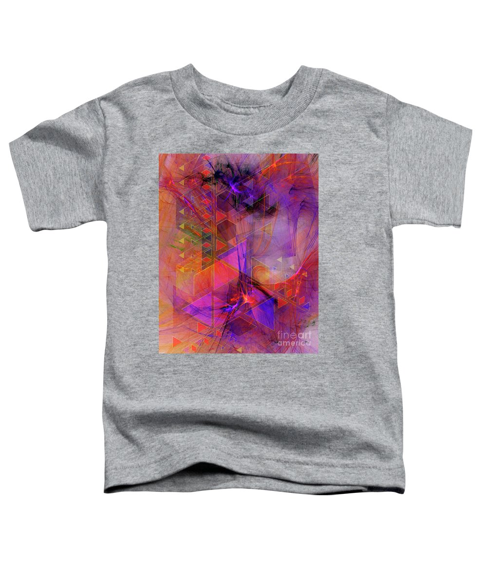 Vibrant Echoes Toddler T-Shirt featuring the digital art Vibrant Echoes by John Robert Beck