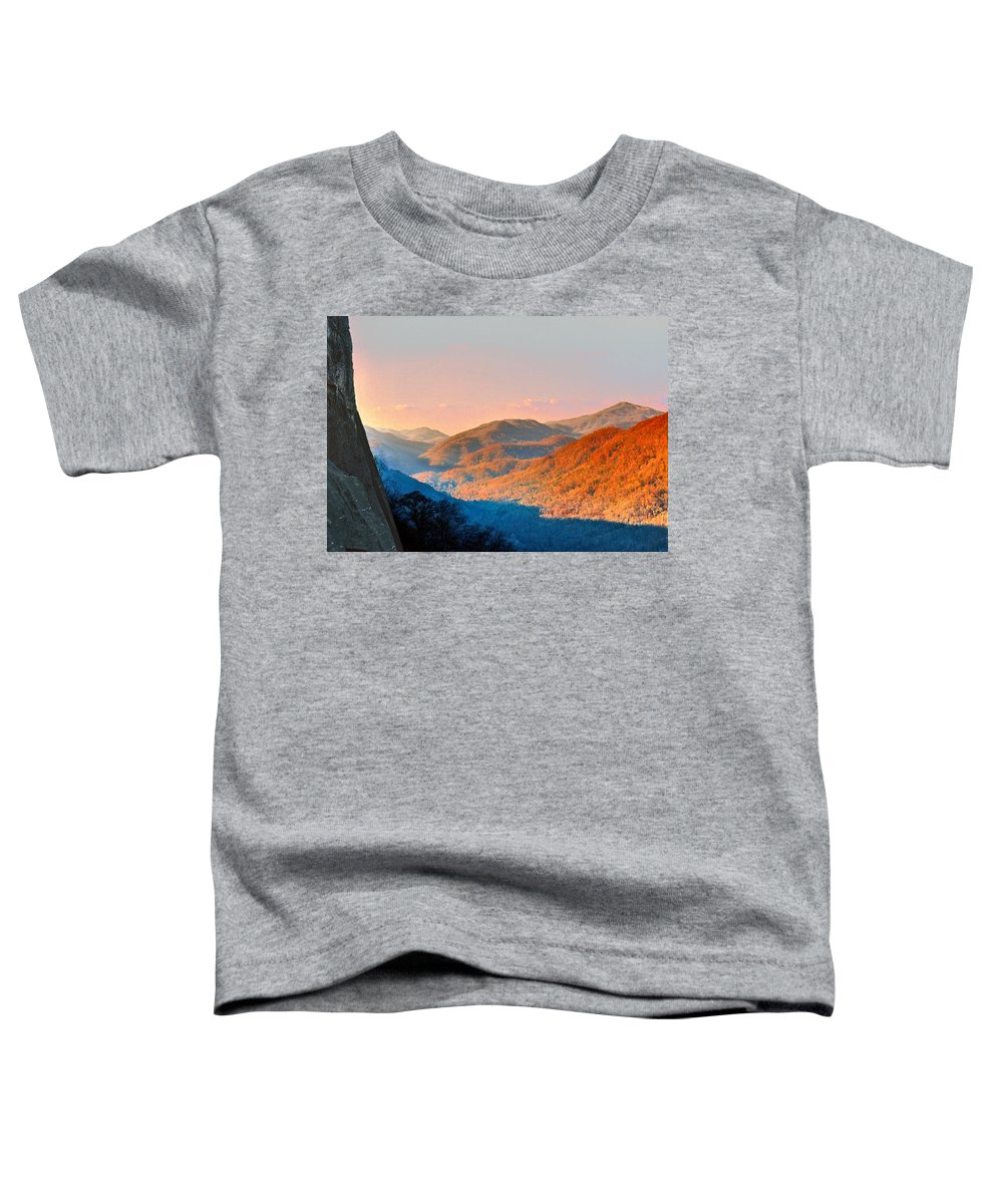 Landscape Toddler T-Shirt featuring the photograph View From Chimney Rock-north Carolina by Steve Karol