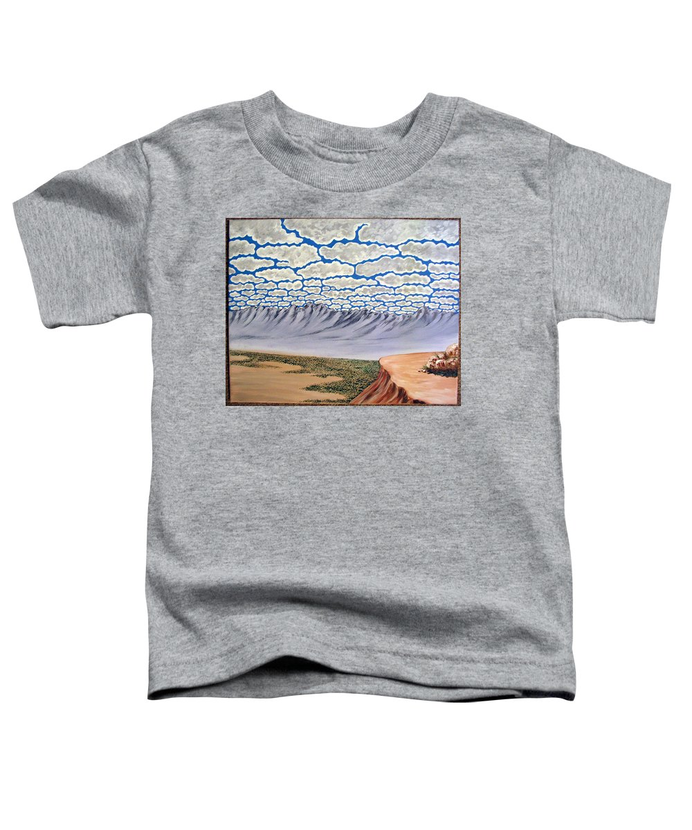 Desertscape Toddler T-Shirt featuring the painting View from the Mesa by Marco Morales