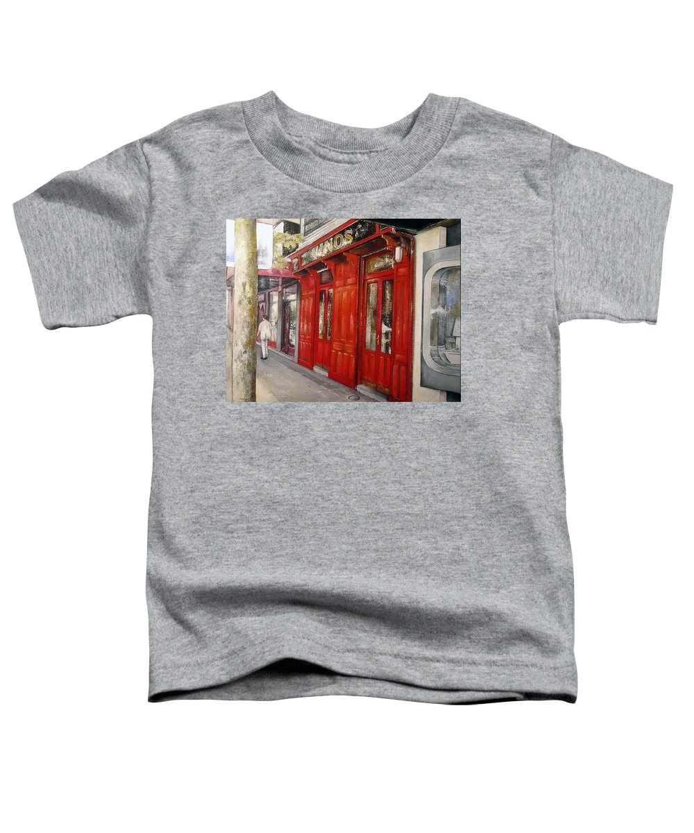 Urban Toddler T-Shirt featuring the painting Vinos Sagasta by Tomas Castano