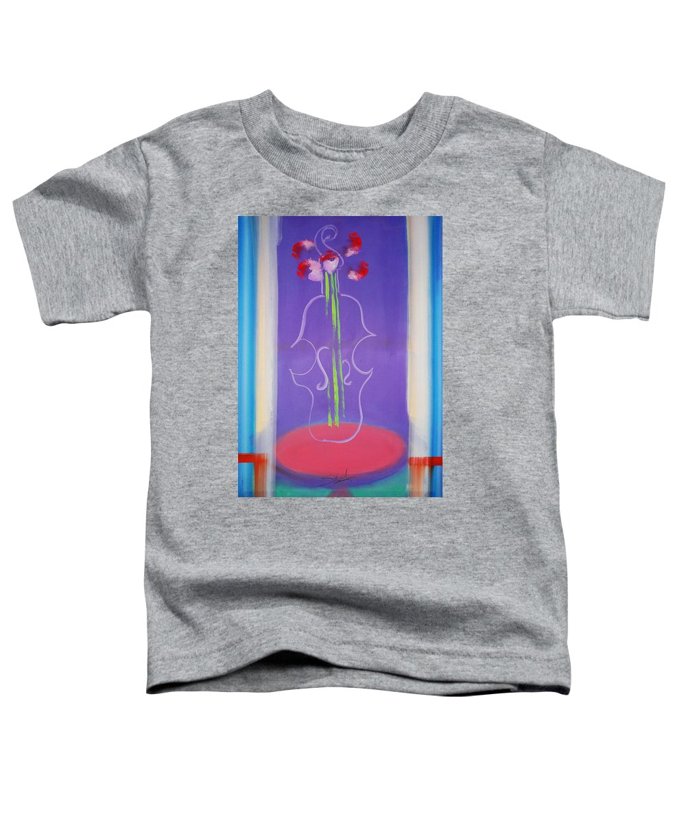 Violin Toddler T-Shirt featuring the painting Violin Vase by Charles Stuart