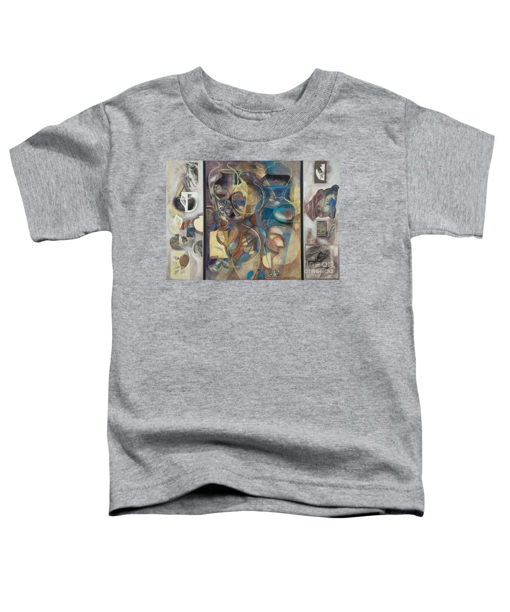 Vessels Toddler T-Shirt featuring the painting Visible Traces by Kerryn Madsen-Pietsch