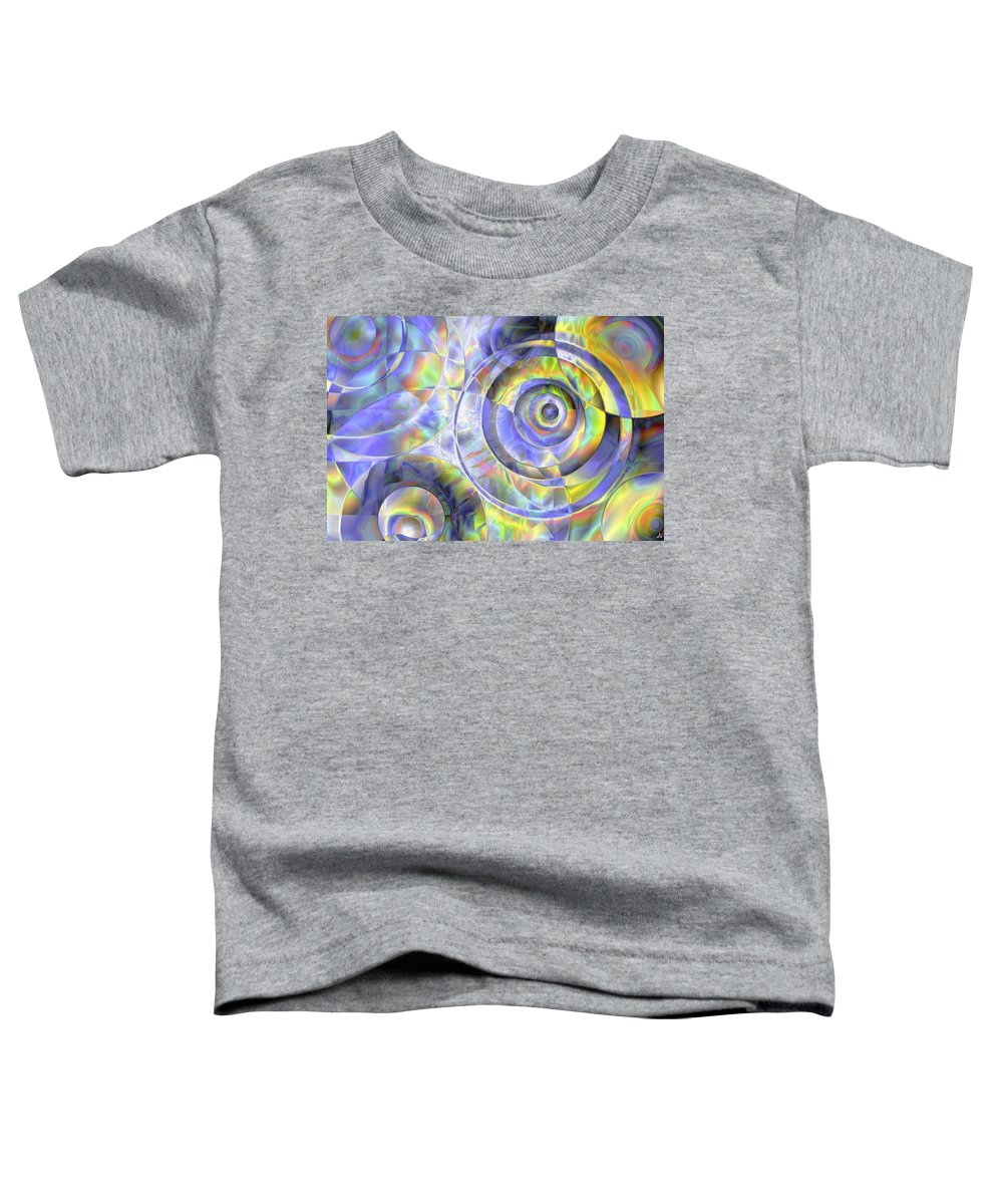 Colors Toddler T-Shirt featuring the digital art Vision 37 by Jacques Raffin