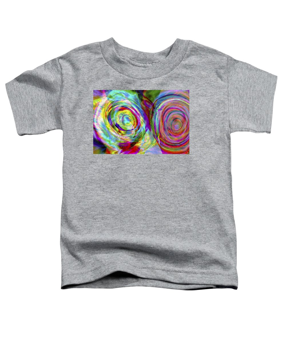 Crazy Toddler T-Shirt featuring the digital art Vision 44 by Jacques Raffin