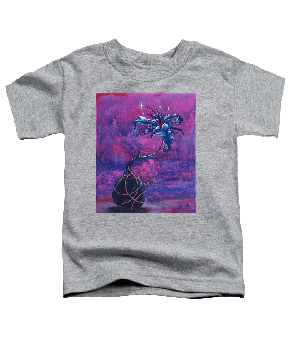 Lily Toddler T-Shirt featuring the painting Waiting Flower by Jennifer McDuffie