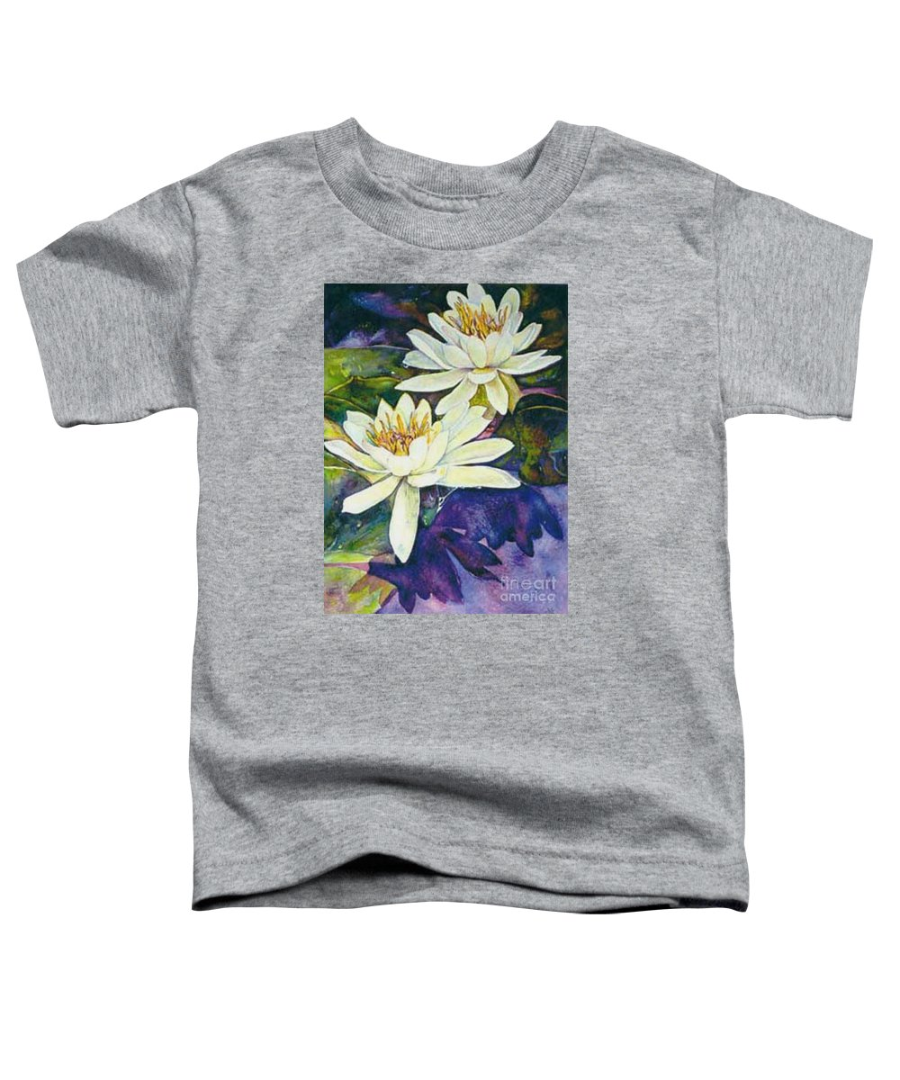 Flower Toddler T-Shirt featuring the painting Water Lilies by Norma Boeckler