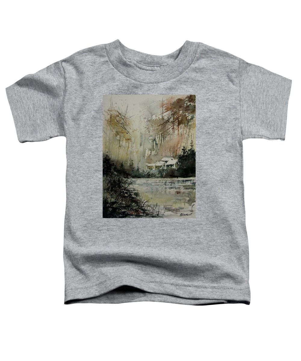 Landscape Toddler T-Shirt featuring the painting Watercolor 070608 by Pol Ledent