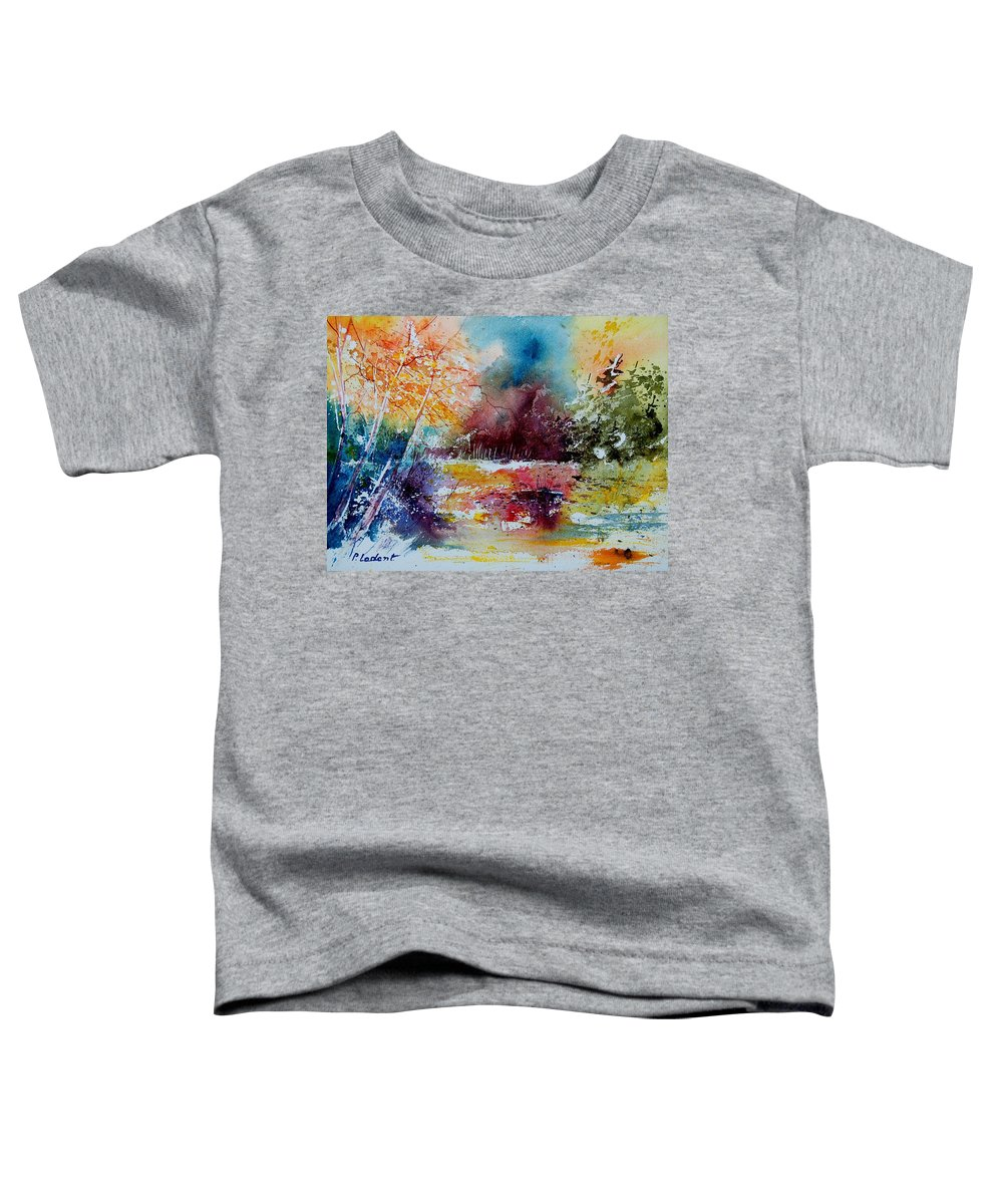 Pond Toddler T-Shirt featuring the painting Watercolor 140908 by Pol Ledent