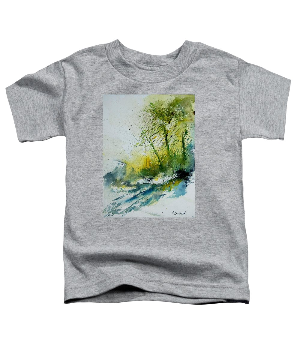 River Toddler T-Shirt featuring the painting Watercolor 181207 by Pol Ledent