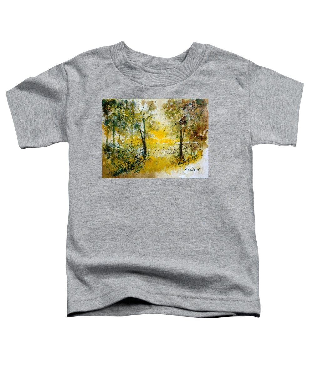 River Toddler T-Shirt featuring the painting Watercolor 210108 by Pol Ledent