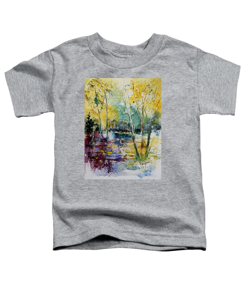 Pond Toddler T-Shirt featuring the painting Watercolor 280809 by Pol Ledent