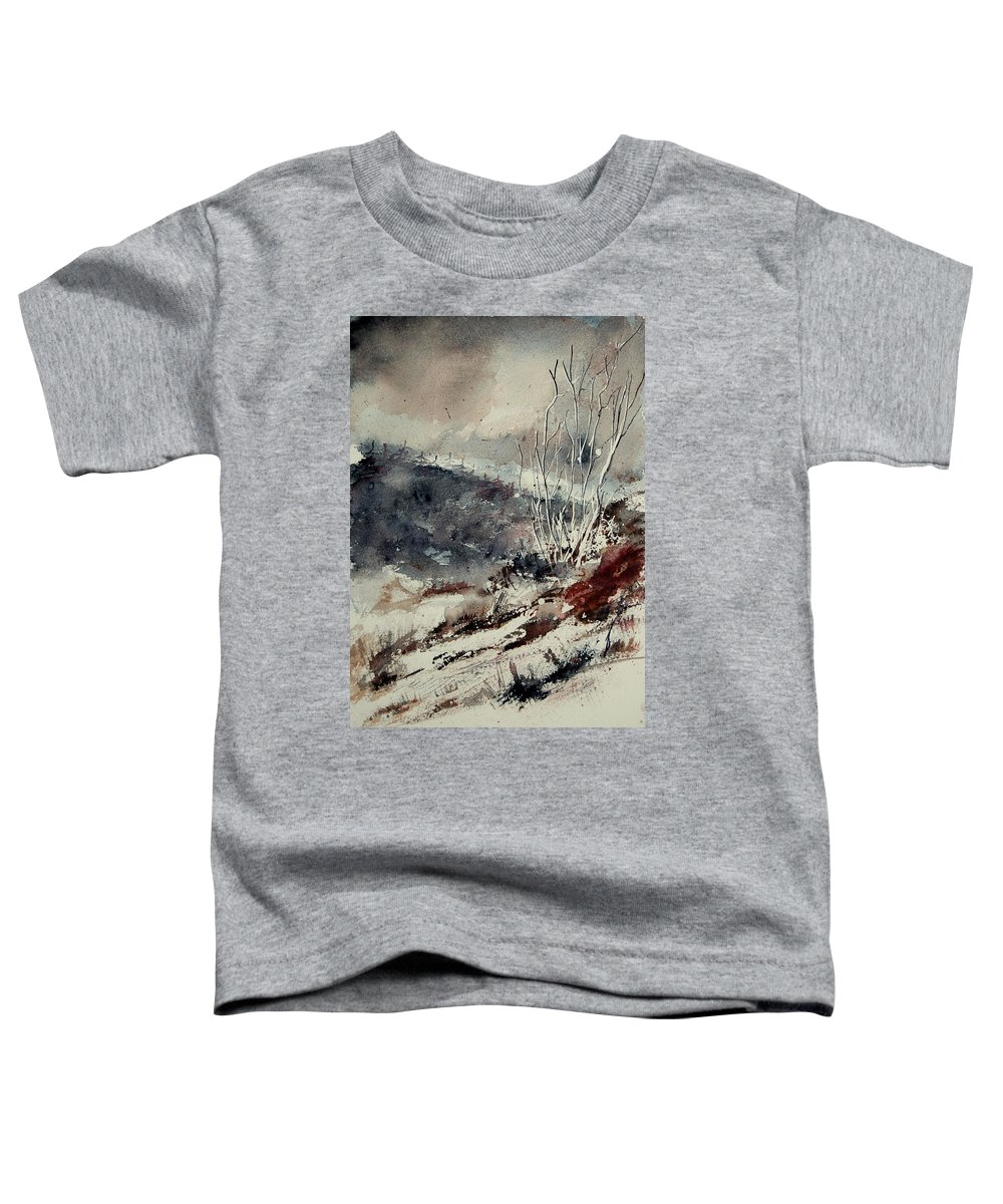 Snow Toddler T-Shirt featuring the print Watercolor 446 by Pol Ledent