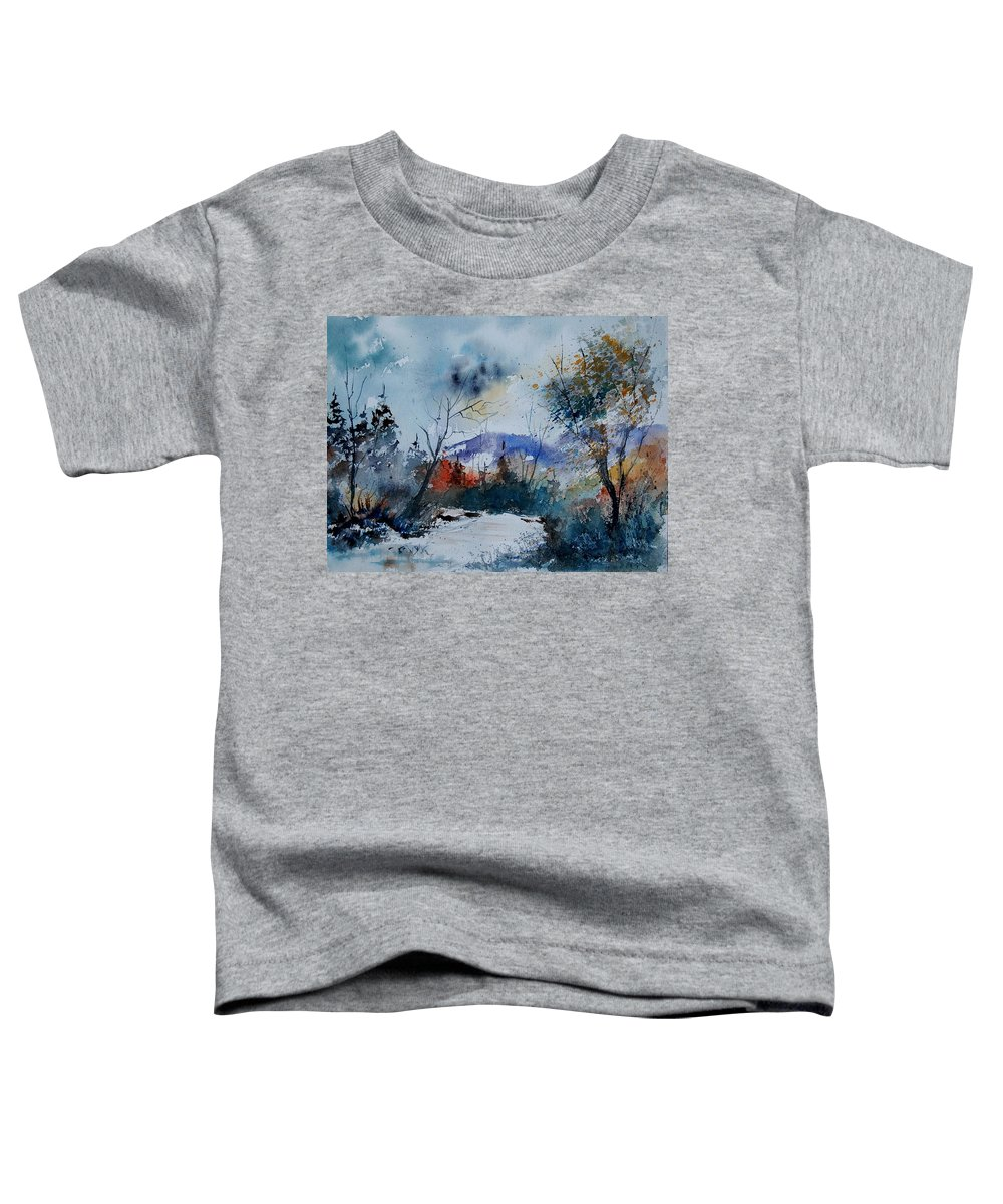 Landscape Toddler T-Shirt featuring the painting Watercolor 802120 by Pol Ledent