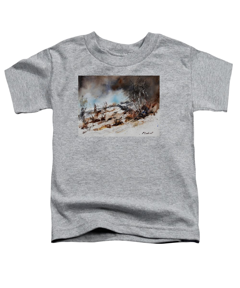 River Toddler T-Shirt featuring the painting Watercolor Jjook by Pol Ledent