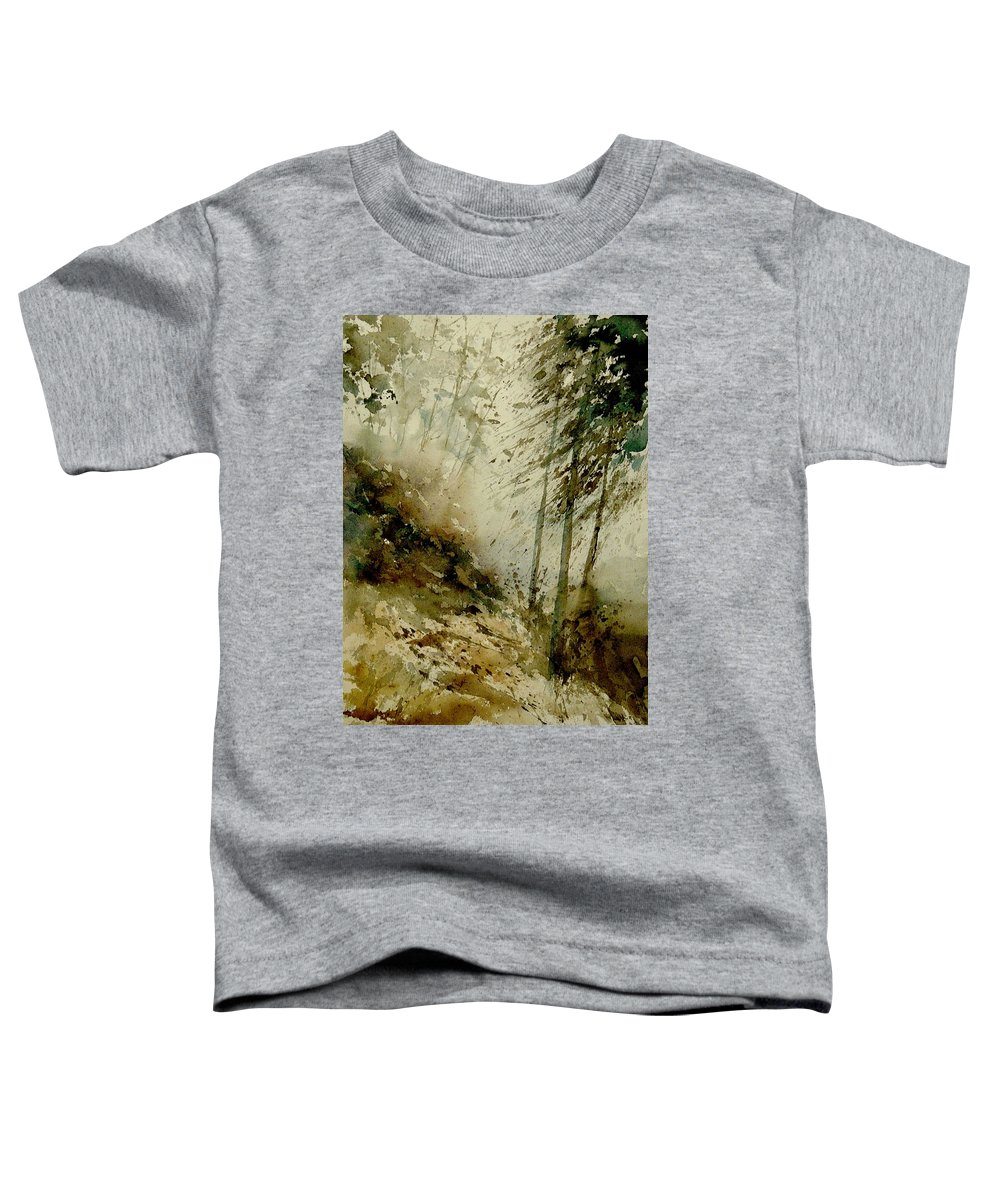 Landscape Toddler T-Shirt featuring the painting Watercolor Misty Atmosphere by Pol Ledent