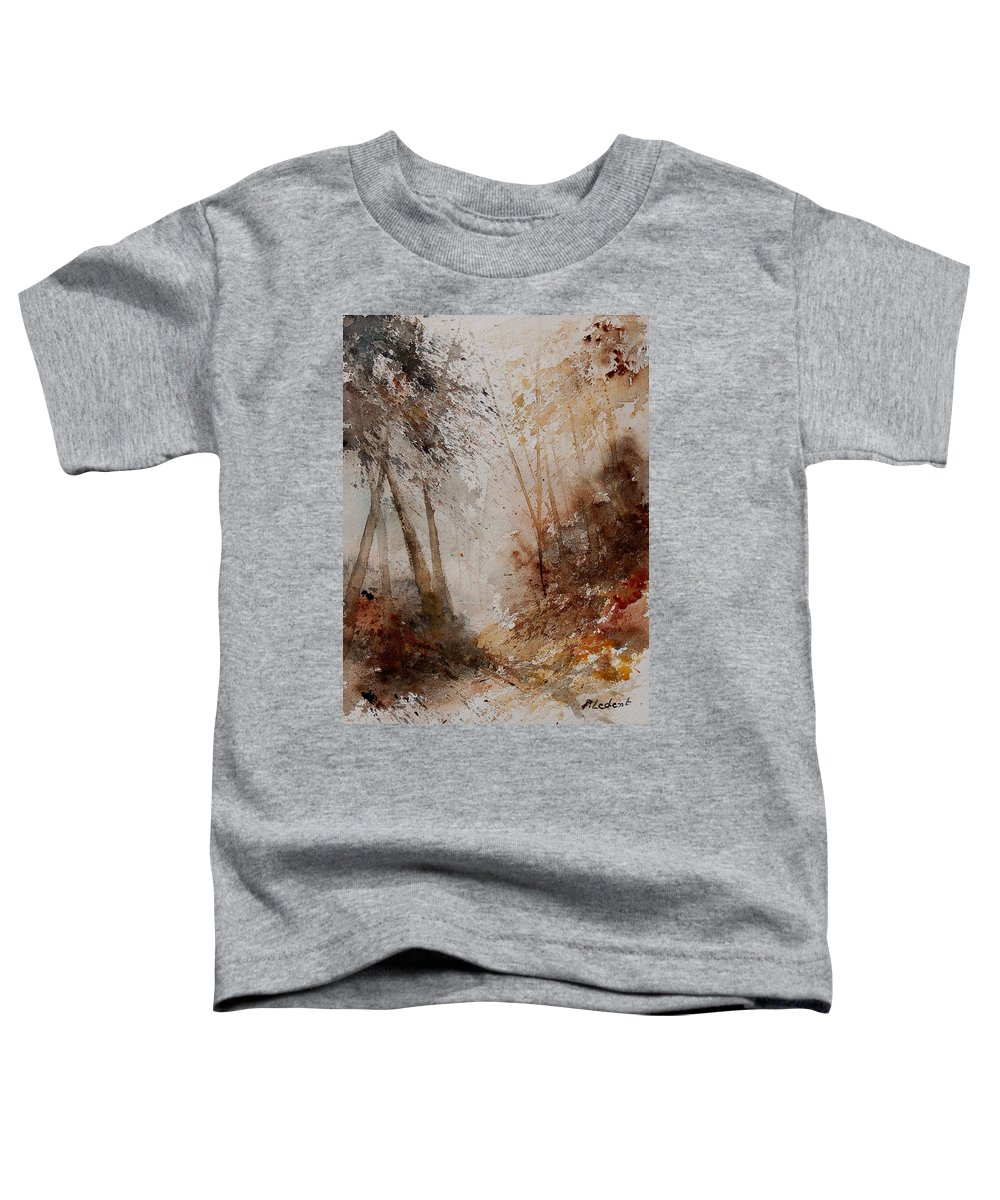 Landscape Toddler T-Shirt featuring the painting Watercolor Misty Path by Pol Ledent