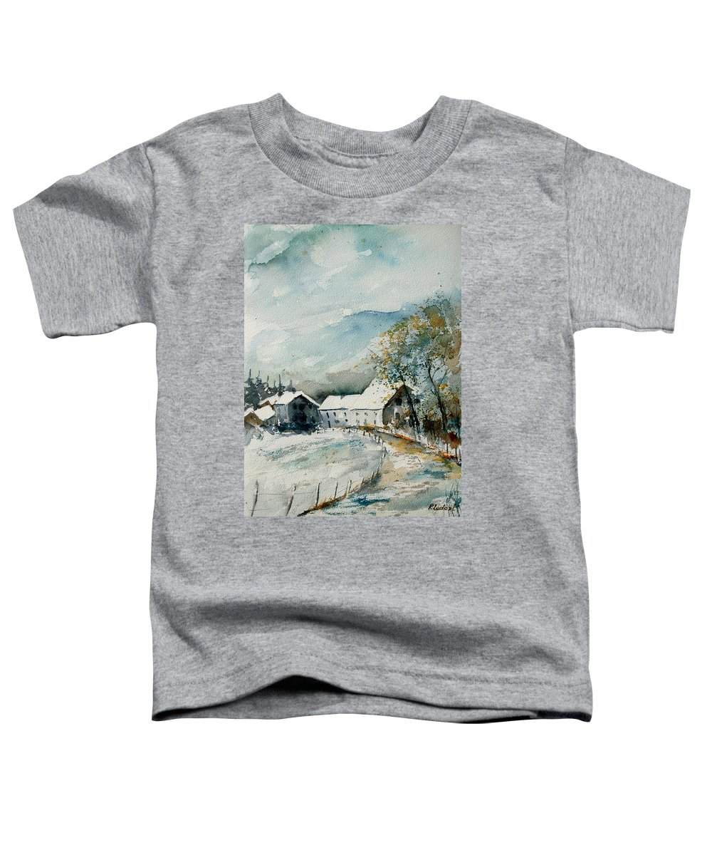 River Toddler T-Shirt featuring the painting Watercolor Sechery 1207 by Pol Ledent