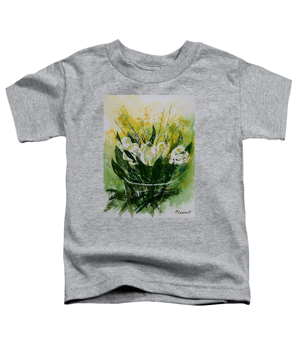 Flowers Toddler T-Shirt featuring the painting Watercolor Tulips by Pol Ledent